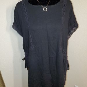 Black Open arm with tie cover-up